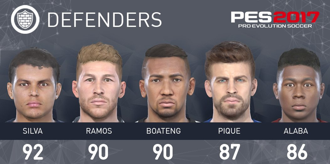 PES 2017 Defenseur stat