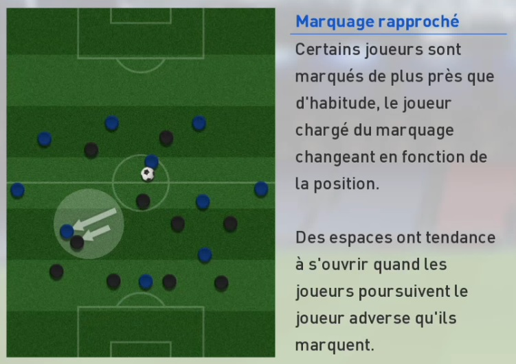 PES 2017 - Marquage rapproché