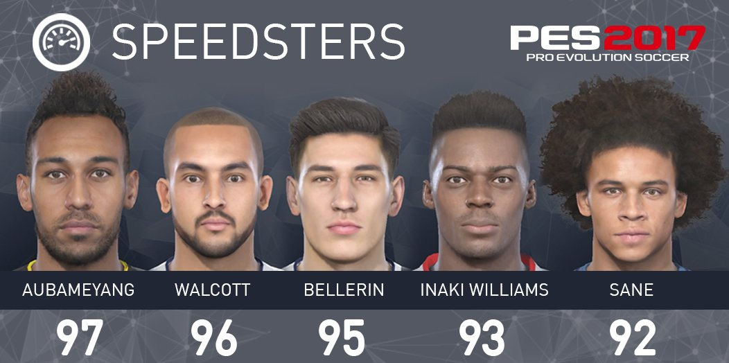 PES 2017 Speed stat