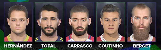 PES 2018 DP2 Faces