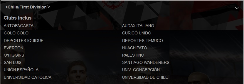 PES2018 Chili Teams