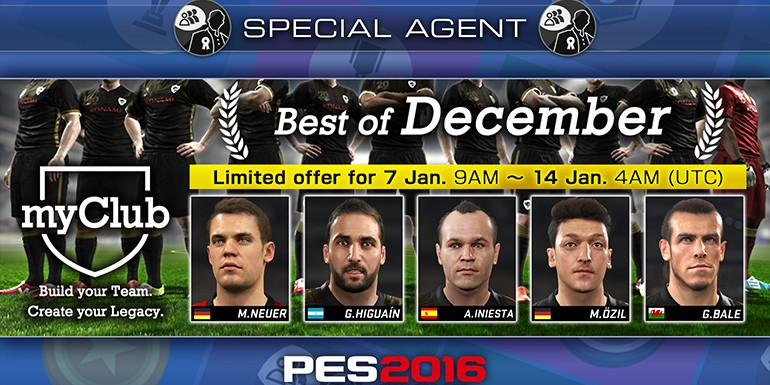 PES 2016 - myClub: Best of December