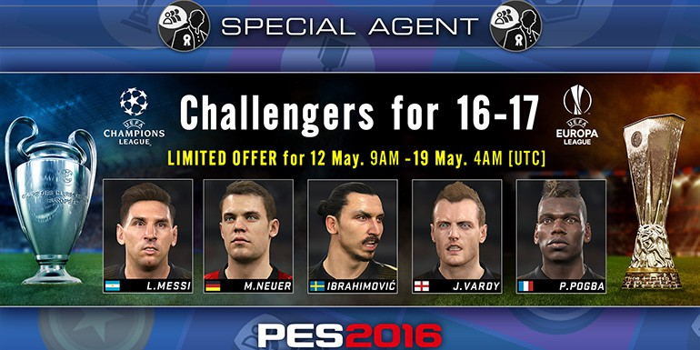 PES 2016 - myClub: Challengers for UCL/UEL 16-17