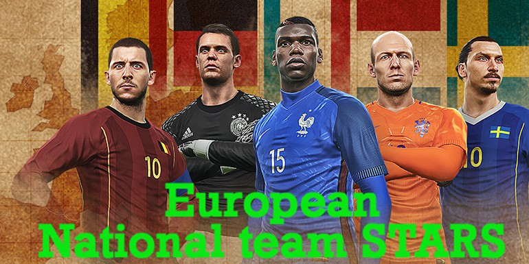 PES 2017 - myClub: European National Team STARS
