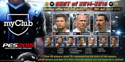 PES 2015 - myClub: BEST of 2014-15