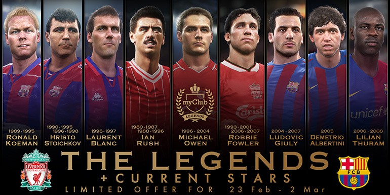 PES 2017 - myClub: The LEGENDS + Current Stars