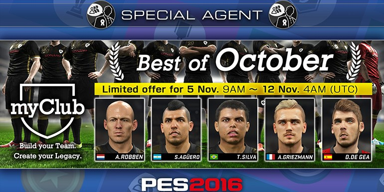 PES 2016 - myClub: Best of October
