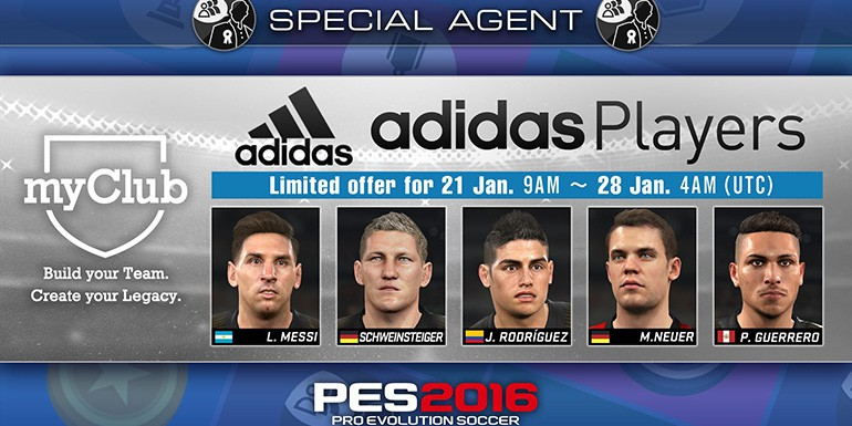 PES 2016 - myClub: adidas Players
