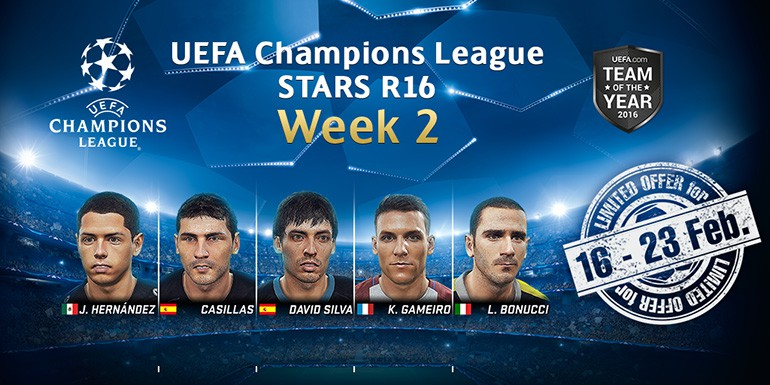 PES 2017 - myClub: UEFA Champions League STARS R16 Week 2