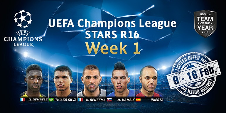PES 2017 - myClub: UEFA Champions League STARS R16 Week 1