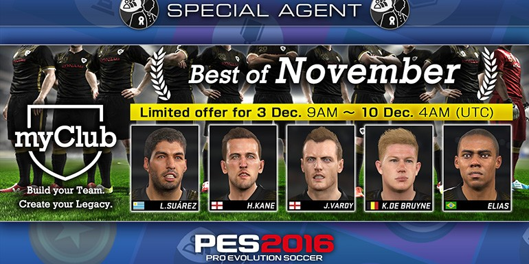 PES 2016 - myClub: Best of November