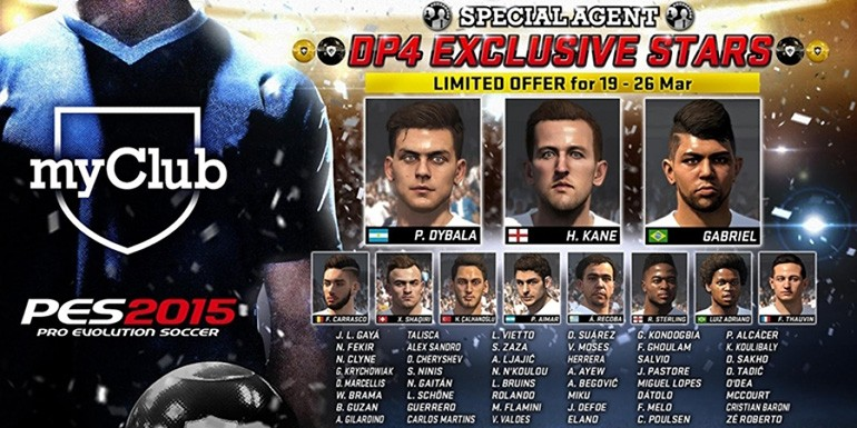 PES 2015 - myClub: DP4 EXCLUSIVE STARS + Jokers de luxe