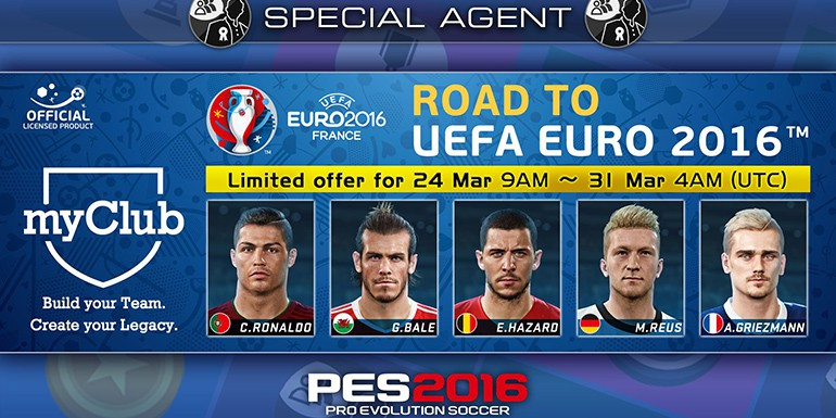 PES 2016 - myClub: Road to UEFA EURO 2016 STARS GS
