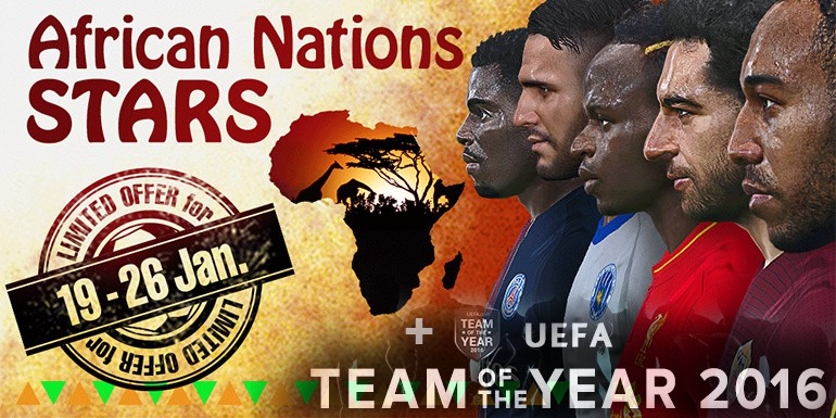 PES 2017 - myClub: African Nations STARS + UEFA TOTY