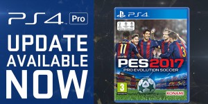 PES 2017 - Patch 1.04 disponible (4K sur la PS4 Pro)