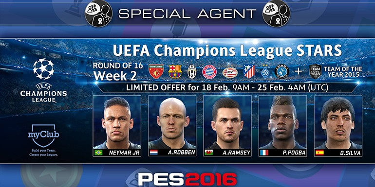PES 2016 - myClub: UEFA Champions League STARS R16 Week 2