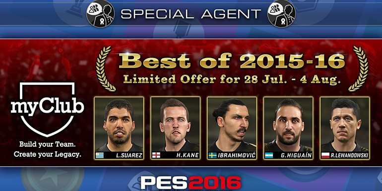PES 2016 - myClub: Best of 2015-16