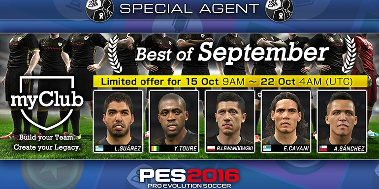 PES 2016 - myClub: Best of September