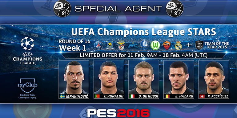 PES 2016 - myClub: UEFA Champions League STARS R16 Week 1