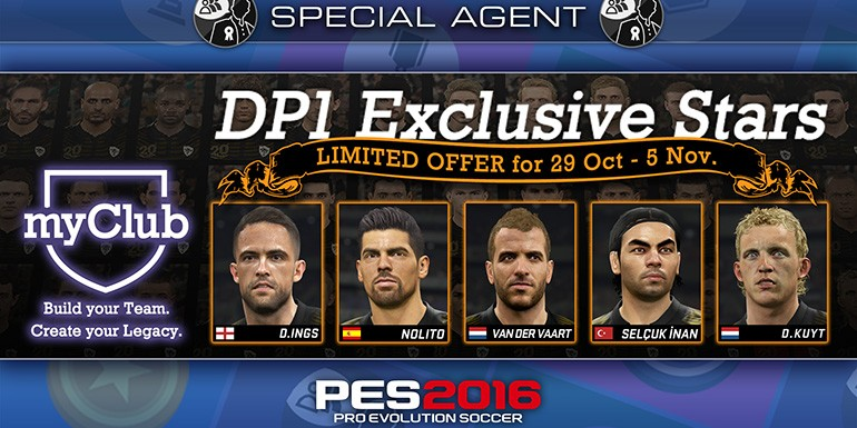 PES 2016 - myClub: DP1 Exclusive Stars