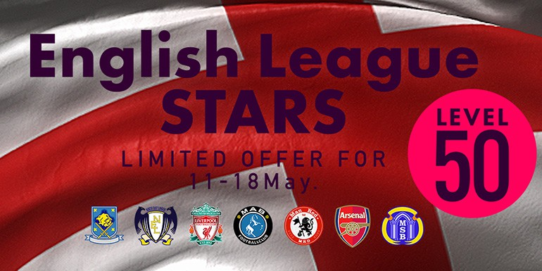 PES 2017 - myClub: English League STARS Lv.50